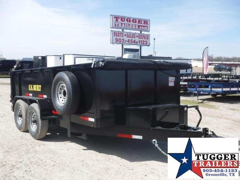 2020 Texas Pride Trailers 7x14 14ft Steel Heavy Duty Work Construction Dump Trailer