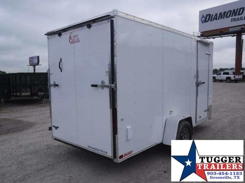 2020 Cargo Craft 6x12 12ft Elite V-Nose 2' Ramp Utility Move Sport Enclosed Cargo Trailer