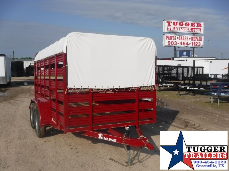 2020 TexLine 6x12 12ft Farm Livestock Animal Cow Farm Utility Livestock Trailer