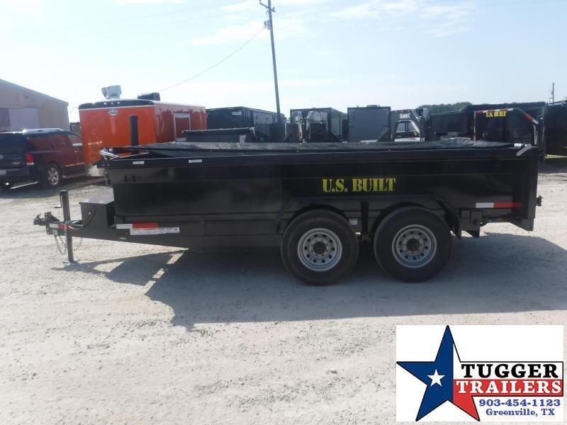 2020 Texas Pride Trailers 7x14 14ft Telescoping Steel Heavy Duty Utility Dump Trailer