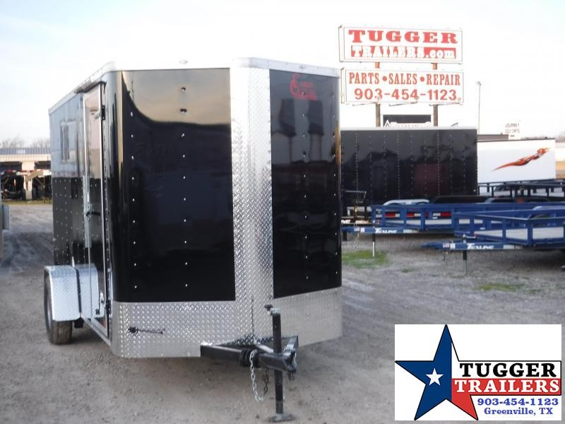 2020 Cargo Craft 6x12 12ft Elite Plus 2' V-Nose Ramp Utility Enclosed Cargo Trailer