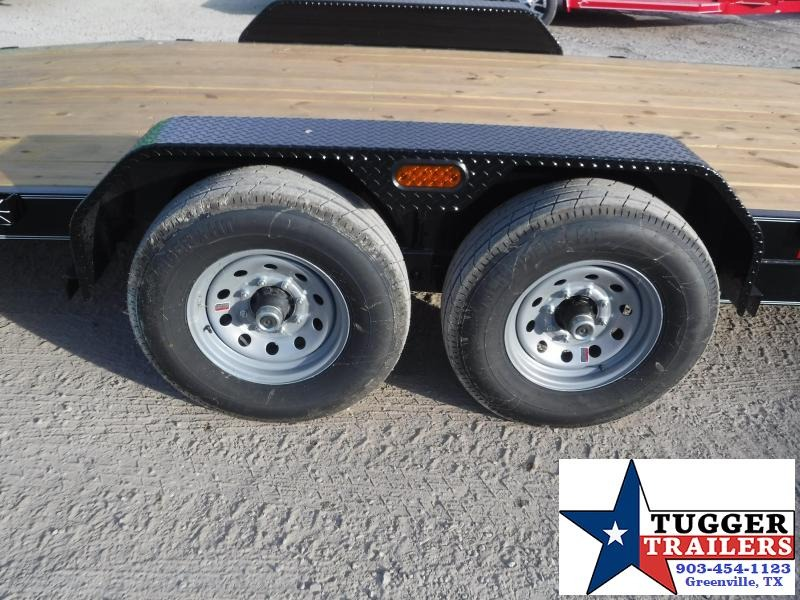 2019 TexLine 83x20 20ft Bobcat Ramp Utility Flatbed Trailer