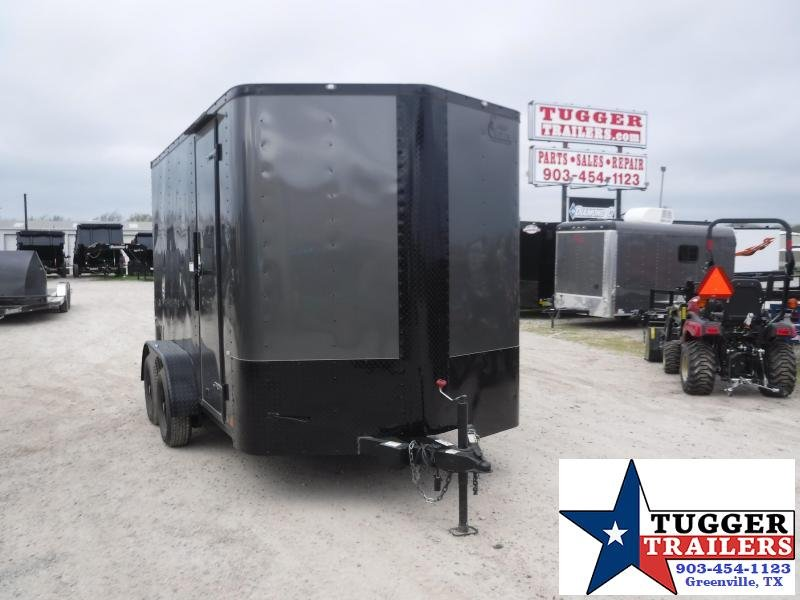2020 Cargo Craft 7x12 12ft Black Out Ramp Utility Move Sport Band Enclosed Cargo Trailer
