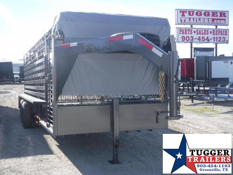 2020 TexLine 80x24 24ft Gooseneck Cattle Cow Farm Horse Goat Livestock Trailer