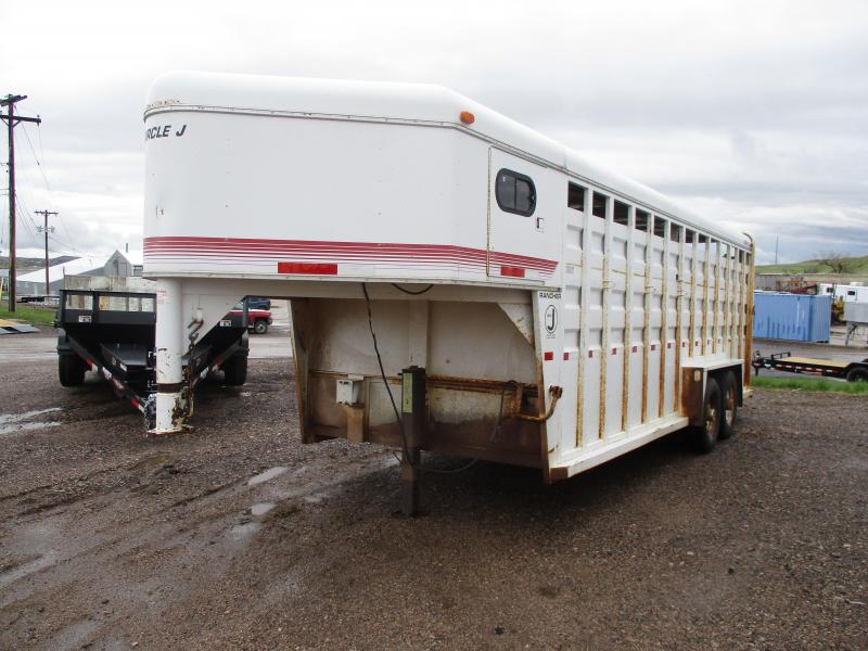 1993 Circle J Trailers Stock Livestock Trailer