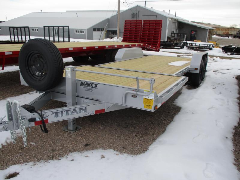 2020 Titan Trailers Tilt bed Flatbed Trailer