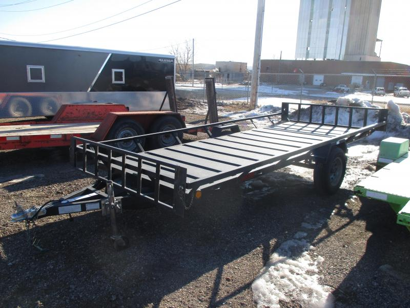 "2011 Echo Trailers ATV Flatbed Trailer 80"" X 14'7"