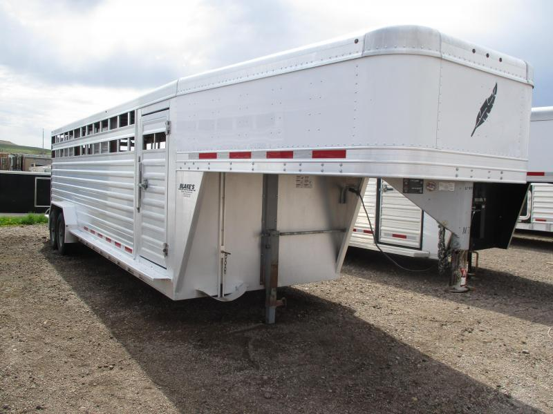 2016 Featherlite Stock Livestock Trailer 7 X 24