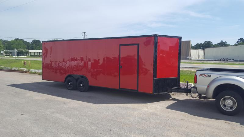 8.5 x 24 Red/Blackout TA3 Car / Racing Trailer