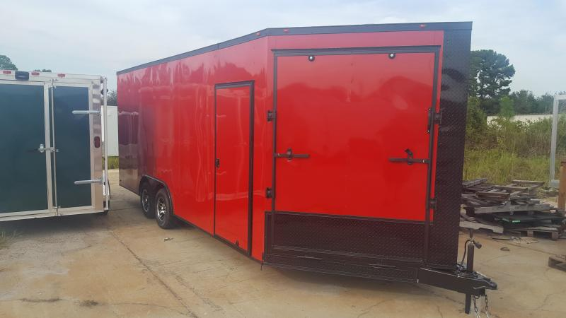 5' V NOSE RAMP Enclosed Cargo Trailer