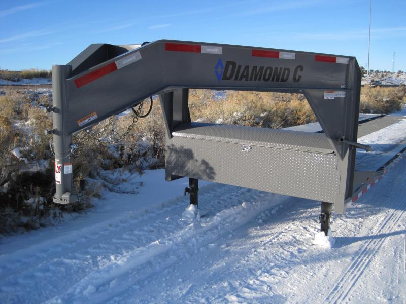 2020 Diamond C Trailers MVC207 Car / Open Trailer- Drive Over Fenders- Gooseneck- 14 ply Running Tires- Tool Box- Dual Jacks- 36 foot- 14900 GVWR