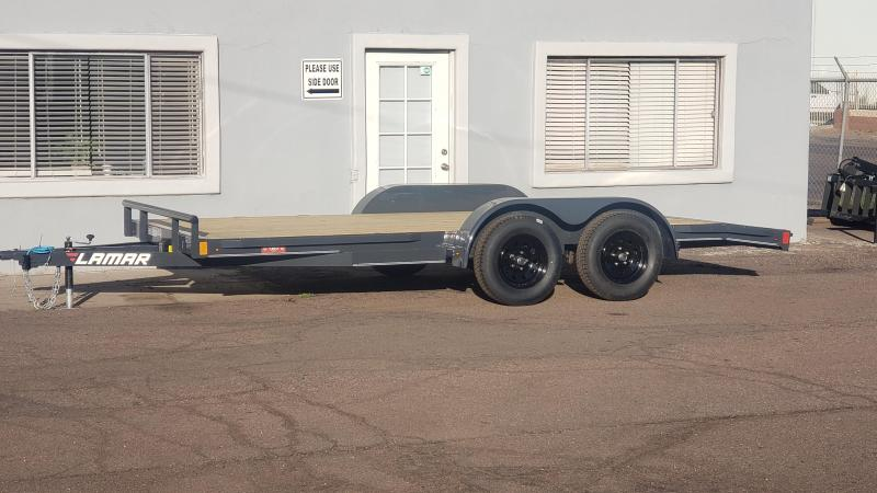 2020 Lamar  cew-3.5k-16 ft Car / Open Car Trailers- Free Spare Tire- Run Rail Upgrade - Wood Deck-  Delivery Available- Cash Discounts- LED Lights- Sealed Wiring Harness- Removable Fenders- Powder Coated