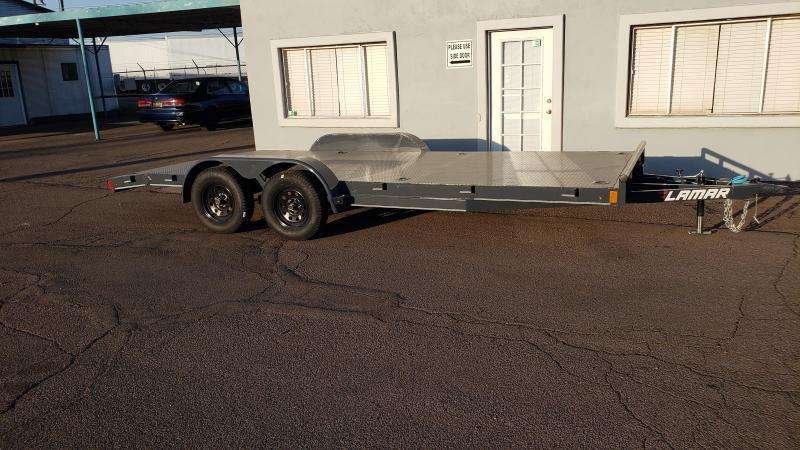 2020 Lamar Trailers ce-3.5k-18 ft Car / Open Car Trailers- Free Spare Tire-  Stake Pockets and 8 Flush Mount D-Rings-  Ramps; Steel Deck- Delivery Available- Cash Discounts- LED Lights- Sealed Wiring Harness- Removable Fenders- Powder Coated