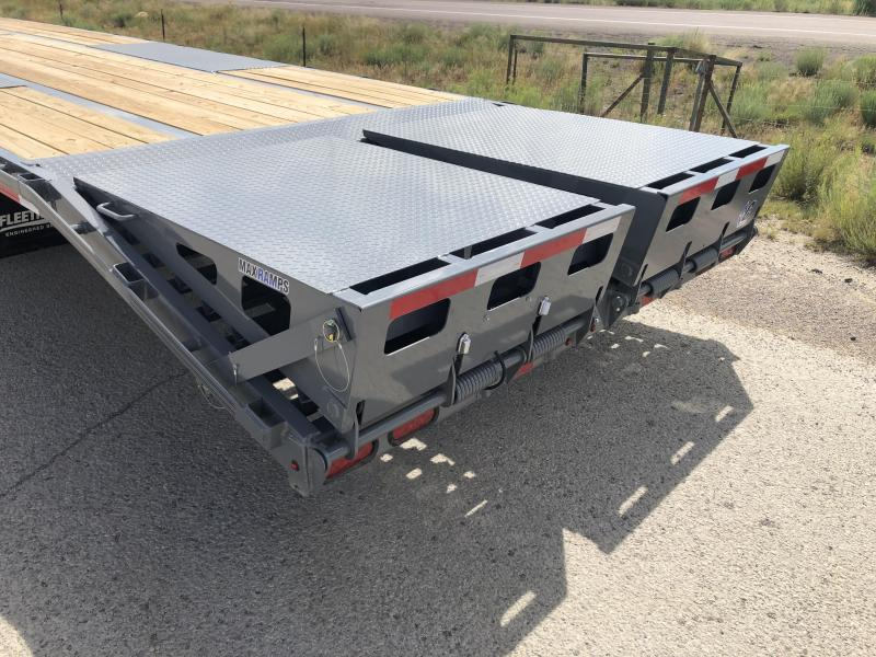 Diamond C Gooseneck Trailer Fmax- 40ft- Electric Over Hydraulic Disc Brakes- 12,000# Axles- 25,900 GVWR- Max Ramps- Air ride with Lift Axle- 17.5 tires- Flatbed Trailer