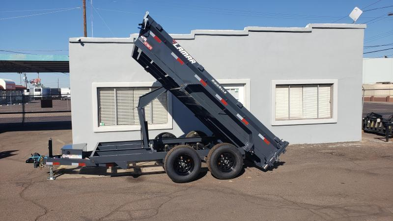 2020 Lamar Medium Duty Dump Trailer- 9990# GVWR- Upgraded 14K rated Scissor Hoist- FREE SPARE- Ramps- Deluxe Tarp Kit- Adj Coupler- 3 way spreader gate. Cash Discounts (See Below)