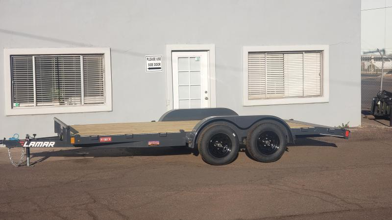 2020 Lamar Trailers CEW-3.5k-16 Car / Open Car Trailer- Free Spare Tire- Flip D-Ring Package