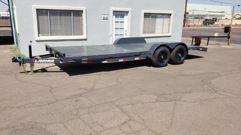 2020 Lamar Trailers 20ft Open Car / Racing Trailer- Free Spare- Removable Fenders- Stake Pockets and Rub Rail- 8 Flush Mount D-Rings- LED Lights- Sealed Wiring Harness- Adjustable Coupler- Powder Coated Finish- Delivery Available- Cash Discounts