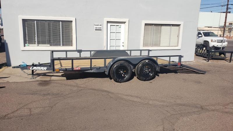 2020 7' x 16' Utility Trailer- 7000# GVWR- Angle Top-4' spring assist gate  *Cash Discount***  See Below