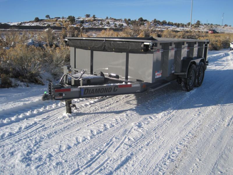 2020 Diamond C Trailers LPD207 14x82 Dump Trailer- 32inch sides- Tarp- Side Step- 12k Jack- upgraded 6 inch cylinder