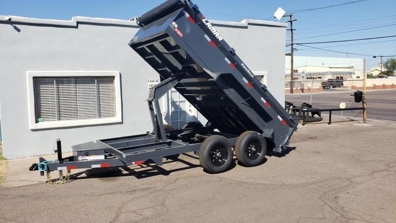 2020 Lamar Medium Duty Dump Trailer- 9990# GVWR- Upgraded 14K rated Scissor Hoist- Upgraded 24 inch sides- Deluxe Tarp Kit- 3-way Spreader Gate- Adj Coupler- Cash Discounts (See Below)