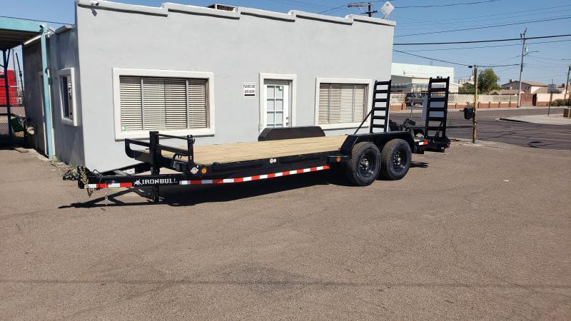 2020 Ironbull- Heavy Duty Equipment Trailer- 20 ft - 7000 lb axles- Free spare- 14000# GVWR