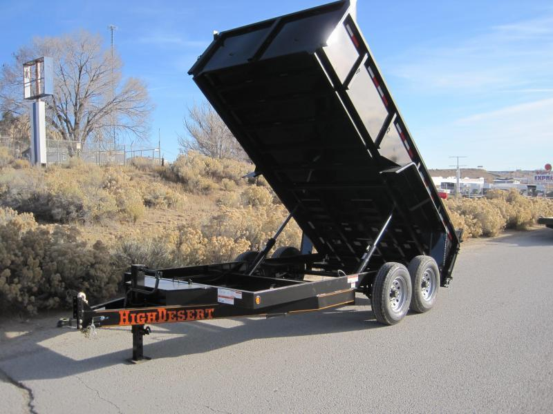2020 High Desert Dump -12000# GVWR- 7x12ft- Ramps- Spreader Gate- Sealed Wiring Harness- LED- Cash Discounts (See Below)