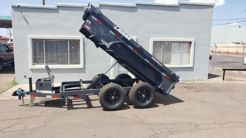 **ON SALE NOW** Lamar Mini Dump Trailer- 5x10- 7000# GVWR- **FREE SPARE TIRE-Ramps- Spreader Gate- Deluxe Tarp Kit- Adj Coupler- Cash Discounts (See Below)