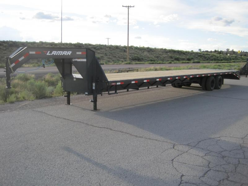 2019 Lamar Trailers FD-12k-40-MR Flatbed Trailer- Hot Shot- Mega Ramps- Sealed Wiring Harness- LED Lights- Powder Coated- Dexter Axles