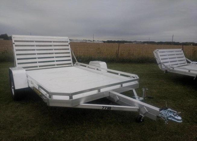 2020 Aluma 7712HB Utility Trailer with dove tail and tailgate