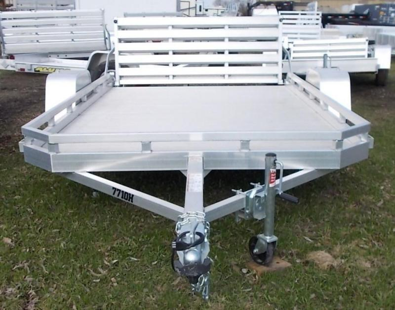 2020 Aluma 7710H BT Utility Trailer with Bi-Fold Tailgate