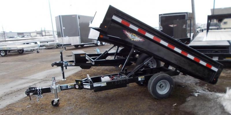 2020 H and H Trailer H5408D-B Dump Trailer