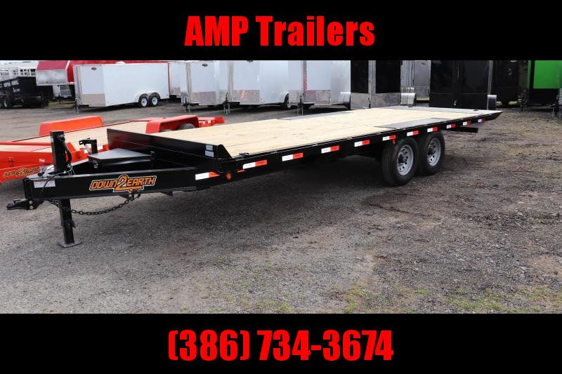 "2020 Down 2 Earth Trailers 102""X22' 7TON POWER TILT Equipment Trailer"