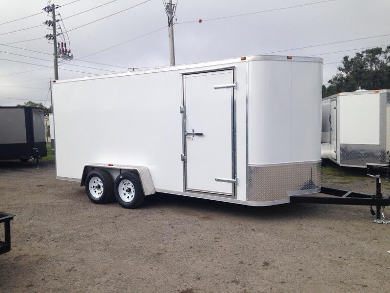 2020 AMP Trailers 7x16 Tandem Axle Cargo Enclosed Cargo Trailer