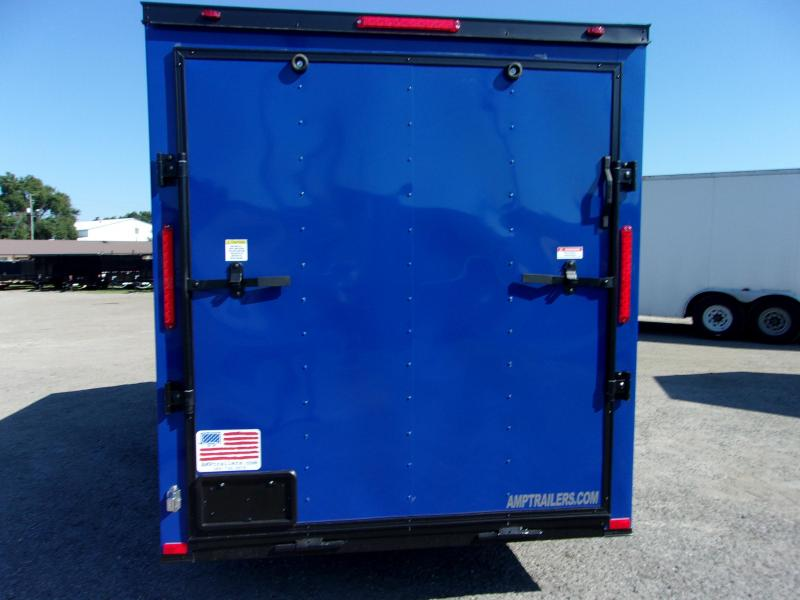 2019 6x12 Commander Series Cargo Trailer *PEPSI BLUE/BLACK OUT*