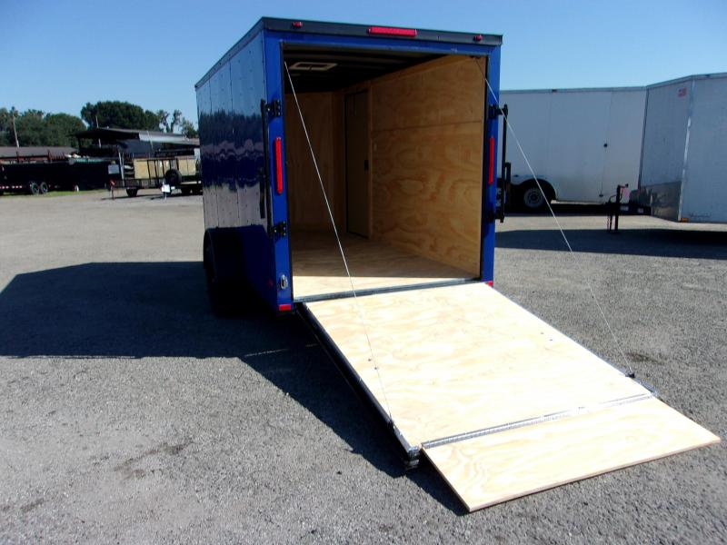 2020 6x12Cargo Trailer *PEPSI BLUE/BLACK OUT*