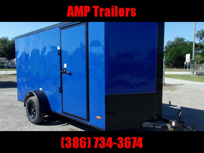 2020 6x12 Commander Series Cargo Trailer *PEPSI BLUE/BLACK OUT*