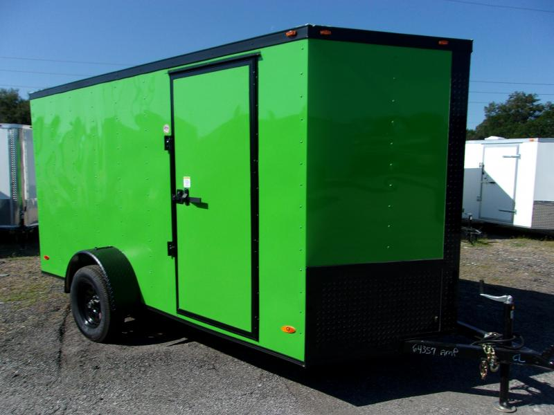 2020 6x12 Commander Series Cargo Trailer *LIME GREEN/BLACK OUT*