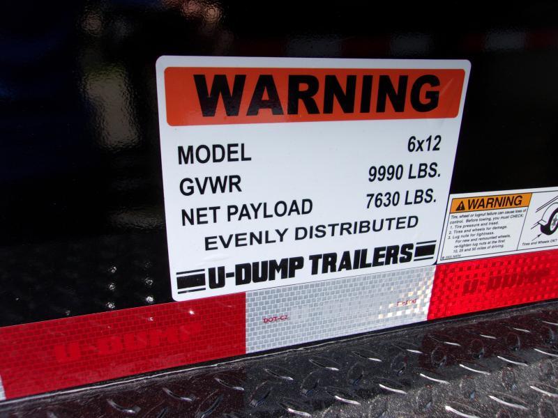 2020 6x12 U-DUMP Dump Trailer