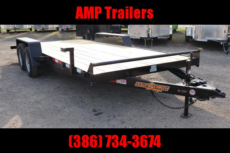 2020 Down 2 Earth Trailers 82X18 CAR HAULER Car / Racing Trailer