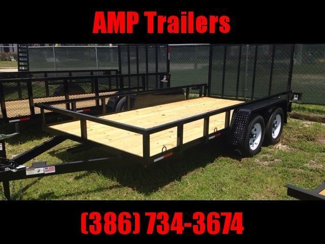 2019 AMP Trailers 76x16 Tandem Axle Utility Trailer