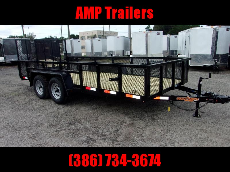 2020 Down 2 Earth Trailers 76X16- 2 SIDES Utility Trailer