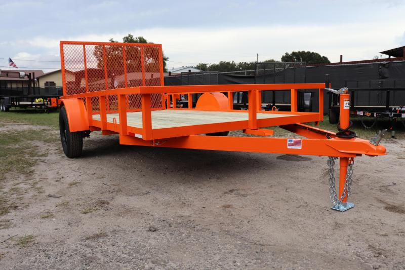 2020 AMP  76 X 12 Utility Trailer *SAFETY ORANGE