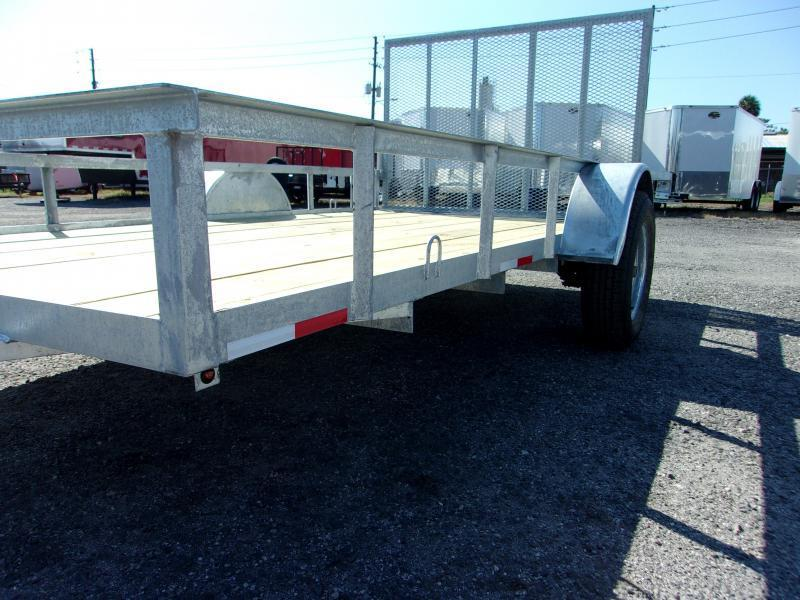 *SALE* 2019 AMP  76 X 12 Utility Trailer *GALVANIZED*