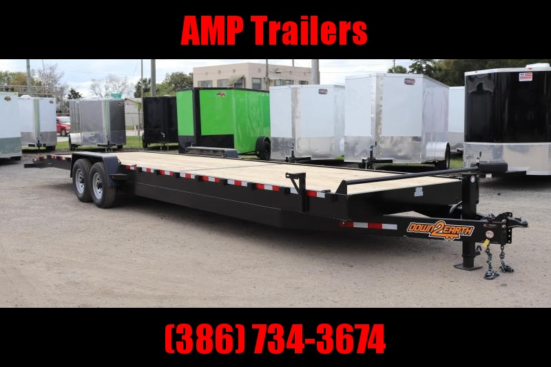 "2020 Down 2 Earth Trailers 82""x34' 2 CAR HAULER Equipment Trailer"