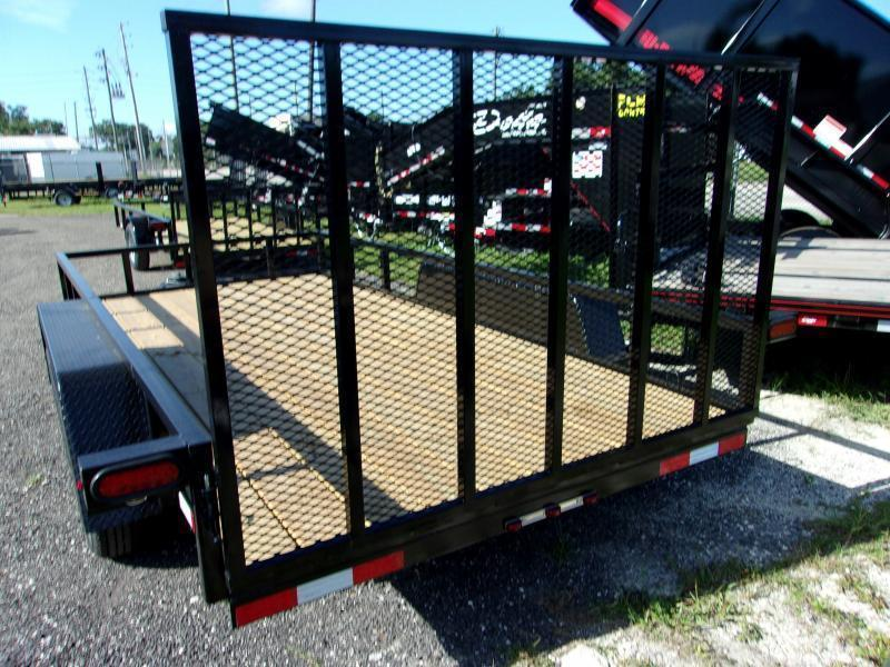 """2020 Down 2 Earth Trailers 82""""x16' Utility Trailer *DOVE TAIL"""