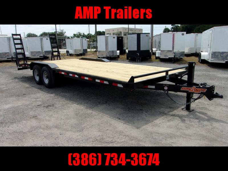 "2019 Down 2 Earth Trailers 24'x102"" DRIVE OVER Equipment Trailer"