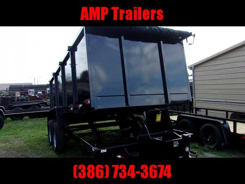 2019 Down 2 Earth Trailers 7X14 - 4 SIDES Dump Trailer