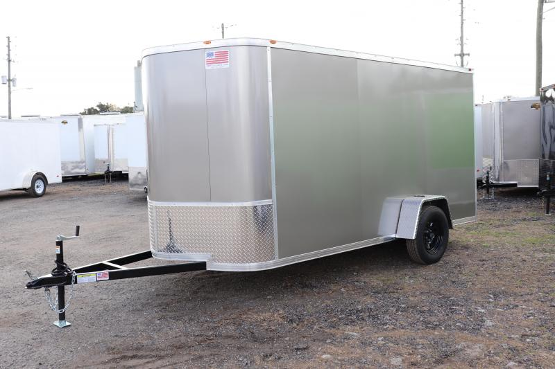 2020 AMP Trailers SINGLE AXLE 6X12 CARGO *PEWTER