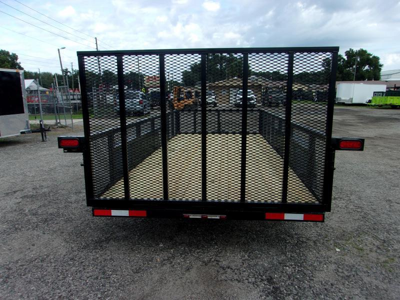 2020 Down 2 Earth Trailers 76X14- 2 SIDES Utility Trailer