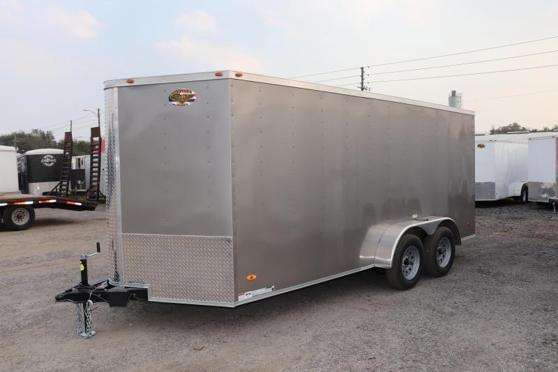 2020 7X16 Commander Series TANDEM AXLE Cargo Trailer